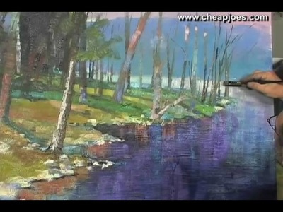 Adding Finishing Touches to Landscape Paintings Part 11 of 11 with Andy Braitman