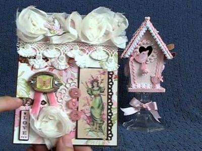 Altered Pink Birdhouse take 2