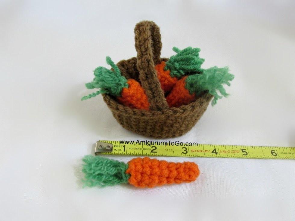 Amigurumi Basket of Carrots