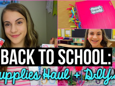 Back to School Supplies Haul 2015 + DIY Supplies!