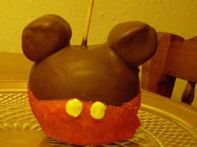 Caramel Apple Mickey Mouse for Halloween