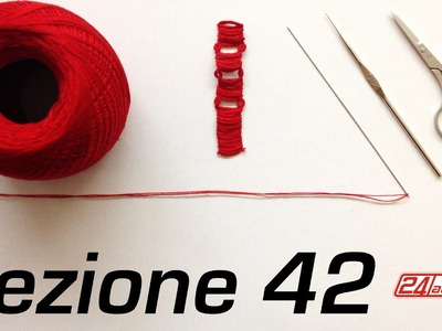 Chiacchierino Ad Ago 42˚ Tutorial Come Fare Tecnica Square Block Bracciale Nefertiti Needle Tatting