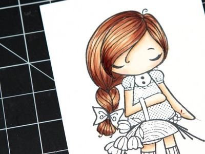 Color Wednesday #8 - The Greeting Farm Miss Anya Collection + Copics