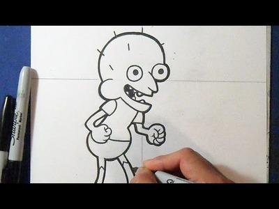 "Cómo dibujar a Sumo ""Clarence""   How to draw Ryan Sumozski"