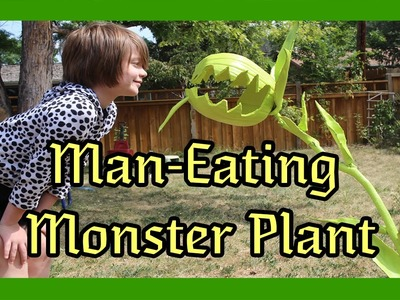 Craft Monday- How to make a DIY man-eating monster plant for Halloween- Day 820 | ActOutGames