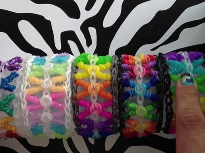 Curly Kisses Bracelet On Rainbow Loom