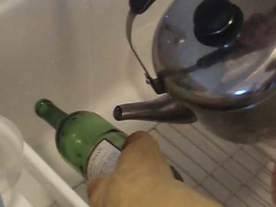 Cutting a Wine Bottle with Hot Water