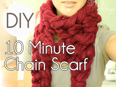 DIY 10 Minute Chain Scarf - Simply Maggie