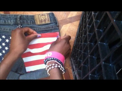 DIY║American Flag Shorts