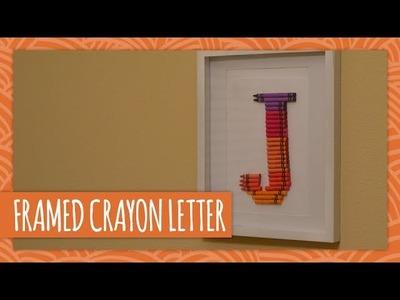 DIY Framed Crayon Letter - HGTV Handmade