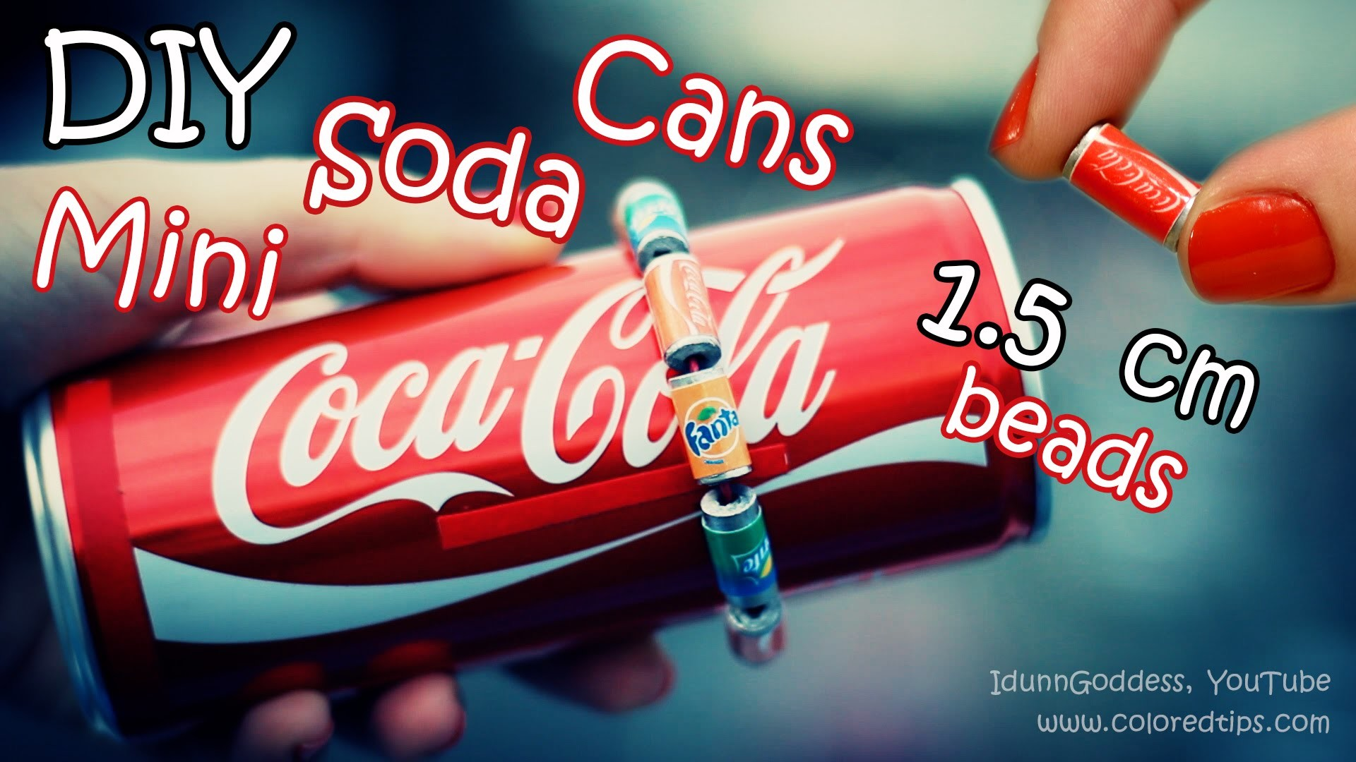 DIY Mini Soda Cans Beads - How To Make Tiny Cola, Fanta and Sprite Cans