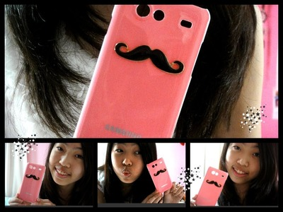 ❤  DIY ~ Mustache Phone Case ❤