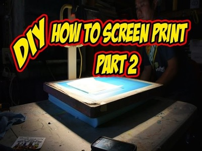 DiY Screen Printing at Home. Part 2