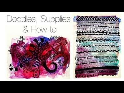 Doodles, Supplies & How-to ♡ Theeasydiy #ArtsyStuff