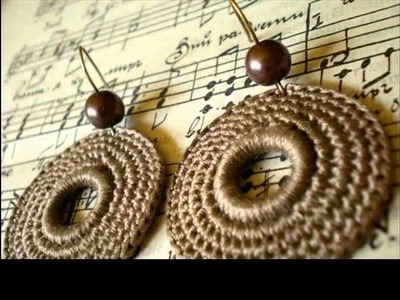 Easy crochet earrings tutorial