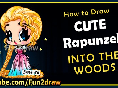 Easy Drawings - How to Draw Disney Princess - Rapunzel Into The Woods - Top Drawing Videos Fun2draw