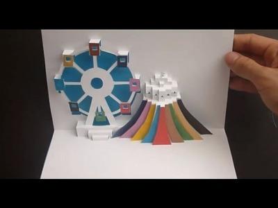 Ferris Wheel Pop Up Card Tutorial, Origamic Architecture