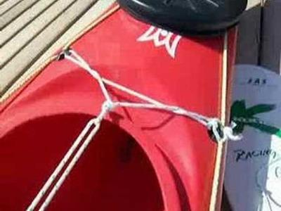 Hacer una vela para kayak - Making a Kayak Sail