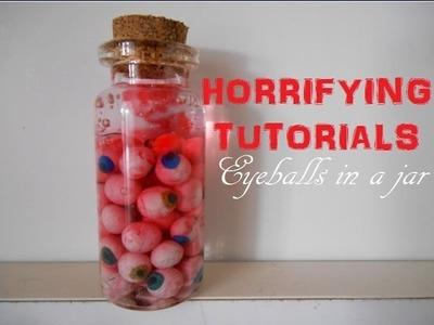 HALLOWEEN: Bottle charm: Eyeballs in a jar