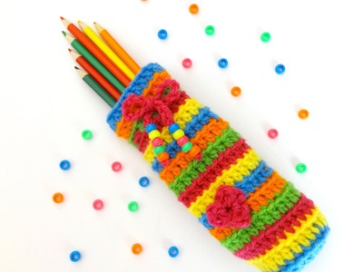 How To Crochet the Candy Stripe Pencil Case, Episode 232