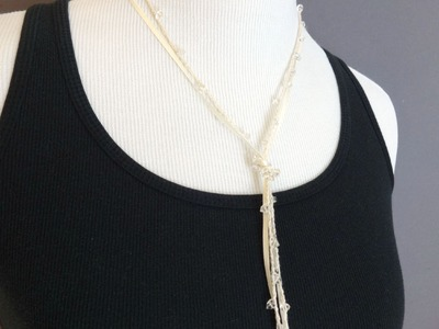 How To Crochet the Shimmering Lariat Necklace, Episode 222