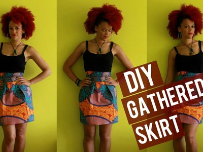 How-to DIY Gathered African Print Skirt + Zipper