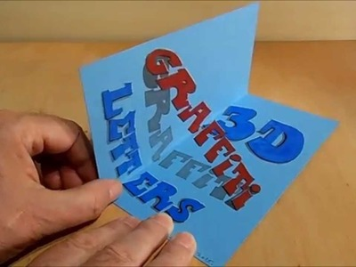 How to Draw 3D Graffiti Letters, Trick Art