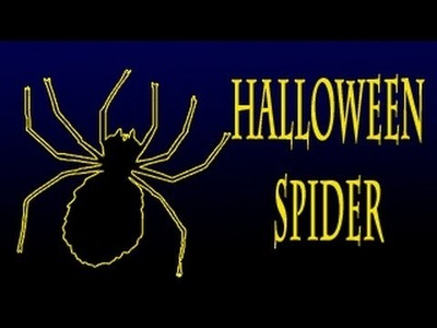 How to make a Halloween Wriggly Spider