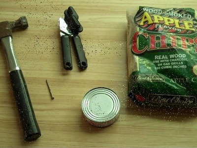 How to Make a Tuna Can Smoke Box for both Charcoal and Gas Grills