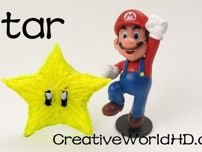 How to Make Mario Star - 3D Printing Pen.Scribbler DIY Tutorial.Creative World