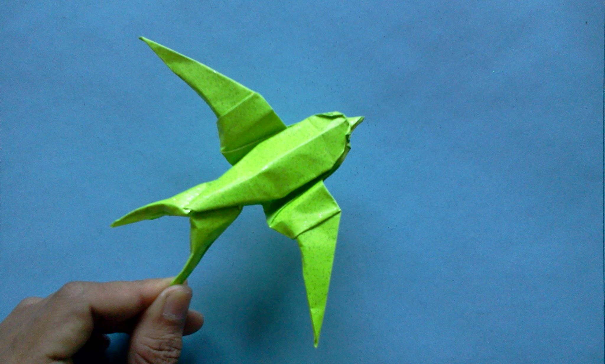 How to make Origami Bird swallow  (sipho mabona)
