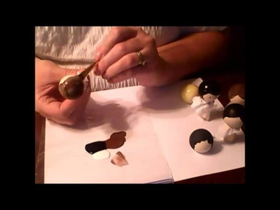 How to Paint Your Clothespin Dolls Hair and Face