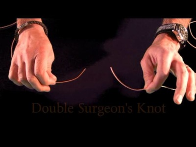How to tie the double surgeons knot