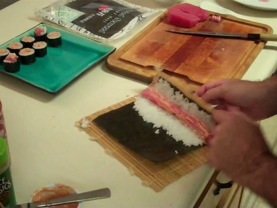 Making Spicy Tuna Rolls