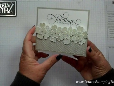 Million & One flower card with Dawn