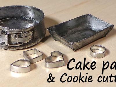 Miniature Kitchen Utensils; Cookie Cutters, Baking Tin & Springform Pan - Tutorial