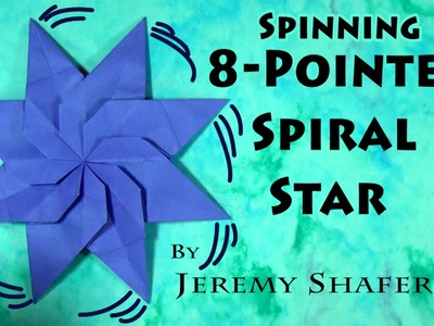 Origami 8-Point Spiral Star