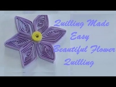 Quilling Made Easy # How to make Beautiful Green Flower using Paper Art Quilling -Paper Art