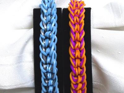 "Rainbow Loom Bracelet - Original Design - ""RIDGEBACK"" (ref # 2g)"