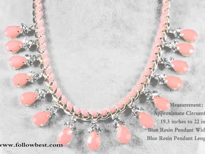 Teardrop Resin and Rope Chain Necklace Statement Necklace for Women