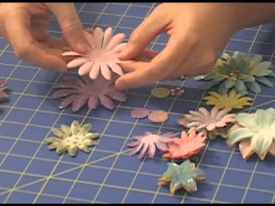 Using Fabric-N-Glitter Flower Petal Layers To Make A Hair Clip