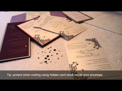 Wedding Invitations With Rhinestones