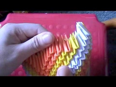3D origami: koi fish part 3