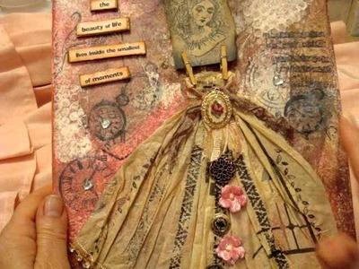 Canvas art, altered glassine bag
