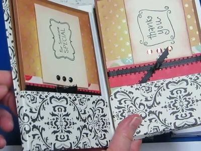 Card Folder holding 6 plus greeting cards