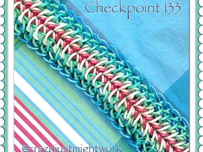Checkpoint 133 bracelet tutorial (hook only, chain with border) rainbow loom bands