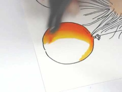 Copic Markers - Blending two colours - yellow to orange