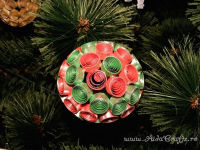 ✿ Decoratiune de Craciun - Tutorial 2 - Glob Quilling - AidaCrafts