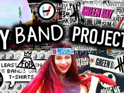 DIY Band T-Shirts With JessiePaege!