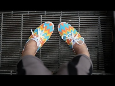 DIY Fashion | Zig Zag Chevron Print Keds Sneakers | Designer DIY